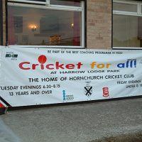 Hornchurch Cricket Club - Cricket 4 All 23rd June 2002 -Banner